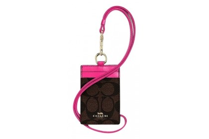 Coach Factory Outlet Authentic Leather ID Lanyards