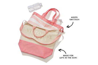 Victoria's Secret Limited Edition 2 in 1 Cooler Zipped Tote Bag/2-in 1 Thermal Insulated Lunch/Picnic Bag